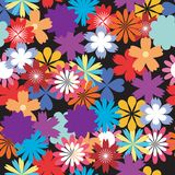 Seamless flower background. On black Royalty Free Stock Images