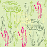 Seamless flower background. Vector illustration royalty free illustration