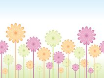 Seamless flower background Royalty Free Stock Photos
