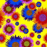 Seamless flower background Royalty Free Stock Image
