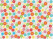 Seamless flower background design in vector  Royalty Free Stock Photo