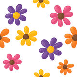 Seamless flower background. Royalty Free Stock Photos