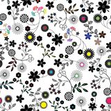 Seamless flower background pattern. Royalty Free Stock Photography