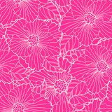 Seamless flower background Royalty Free Stock Images