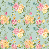 Seamless Flower Background Stock Photography