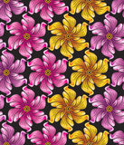 Seamless flower background for textile designs Stock Photography