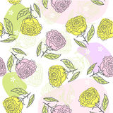 Seamless flower background in vector. Floral seamless backgrounds for design of fabrics and wallpapers in vector Stock Images
