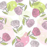 Seamless flower background in vector Royalty Free Stock Images