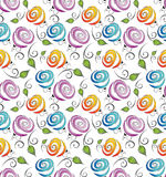 Seamless flower background for wrapper Royalty Free Stock Images