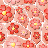 Seamless Flower Bed Pattern Royalty Free Stock Photos