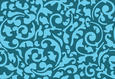 Seamless flower blue ornament Royalty Free Stock Photography