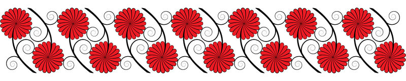 Seamless flower border Royalty Free Stock Images