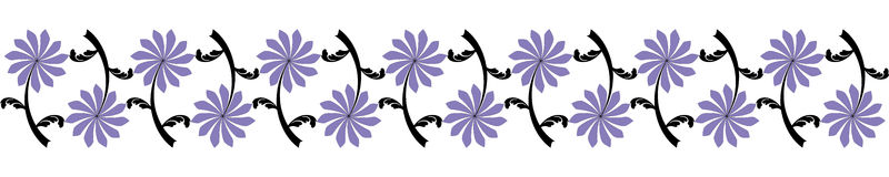 Seamless flower border Royalty Free Stock Photography