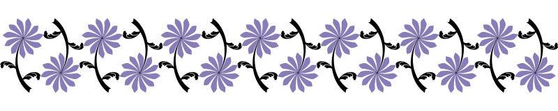 Seamless flower border Royalty Free Stock Photography