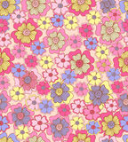 Seamless flower colour pattern. Spring background Stock Photo