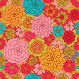 Seamless flower colour pattern. Spring background Royalty Free Stock Images