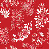 Seamless flower drawings background Stock Image