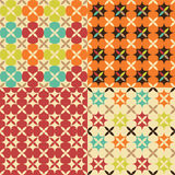 Seamless flower geometric pattern Stock Photography