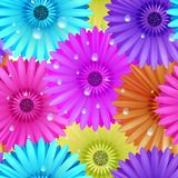 Seamless flower gerbera patter. Stock Photo