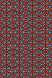 Seamless flower and hearts pattern Stock Images