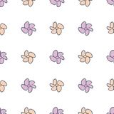 Seamless flower illustrations background abstract, hand drawn. Art, vector, creative & effect. Seamless flower illustrations background abstract, hand drawn Stock Illustration
