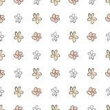 Seamless flower illustrations background abstract, hand drawn. Color, messy, drawing & template. Seamless flower illustrations background abstract, hand drawn Stock Illustration