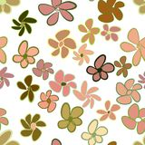 Seamless flower illustrations background abstract, hand drawn. Pattern, texture, messy & repeat. Seamless flower illustrations background abstract, hand drawn Stock Illustration