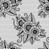 Seamless flower lace pattern Royalty Free Stock Photo