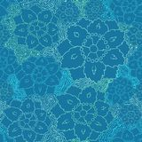 Seamless flower lace pattern Royalty Free Stock Image
