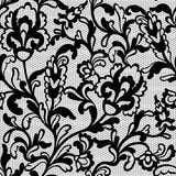 Seamless flower lace pattern stock illustration