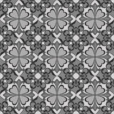 Seamless flower monochrome wallpaper Stock Photos