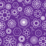 Seamless Flower Outline Pattern Royalty Free Stock Images