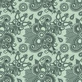 Seamless flower paisley design Stock Images