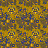Seamless flower paisley design background Stock Image