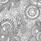 Seamless flower paisley design background Royalty Free Stock Images