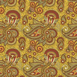 Seamless flower paisley design background Royalty Free Stock Photo