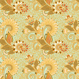 Seamless flower paisley design background Royalty Free Stock Photography