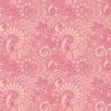 Seamless flower paisley design Stock Image