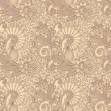 Seamless flower paisley design Stock Photography