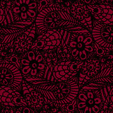 Seamless flower paisley lace pattern Royalty Free Stock Images