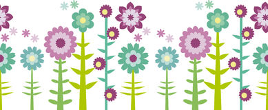 Seamless flower patten Stock Images