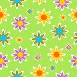Seamless flower pattern vector illustration