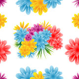 Seamless flower pattern. On a white background royalty free illustration