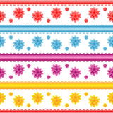 Seamless flower pattern. On a white background vector illustration