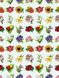 Seamless flower pattern Stock Photos