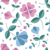 Seamless flower pattern. You can use it for packaging design, textile design and scrapbooking Stock Photo
