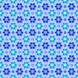 Seamless flower pattern. Background with seamless pattern made of flowers in blue colour Stock Photography
