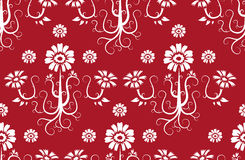 Seamless Flower Pattern Background Stock Photography