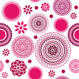Seamless flower pattern. Seamless flower background asymmetrical scattered pattern