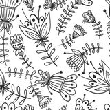 Seamless flower pattern background Royalty Free Stock Image